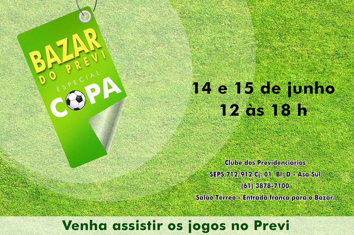 Panfleto Bazar do Previ Copa BR